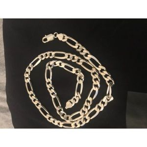 Men's Flat Miami Cuban Link Chain Solid 925 Sterli